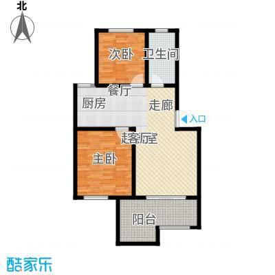 香缇花园82.30㎡A中间户2楼,两室两厅一卫,面积约82.3㎡户型2室2厅1卫