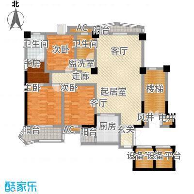 世纪名城-T户型4室2卫1厨