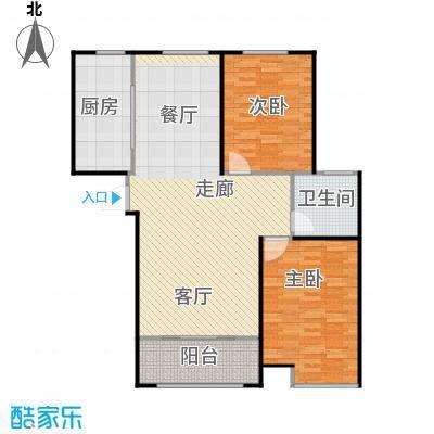 信华观澜盛世106.00㎡户型2室2厅1卫