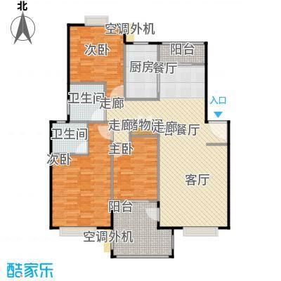 浔城湖锦114.04㎡C2户型 3居室 114.04平米户型3室2厅2卫
