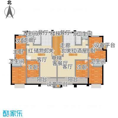蓝钻庄园户型6室2厅4卫2厨