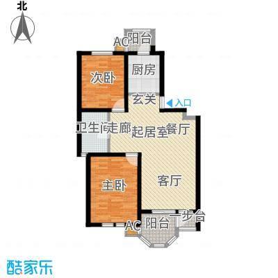 第6城三期2室2厅1卫户型