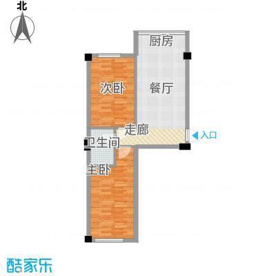 福景园65.34㎡F户型2室1厅1卫