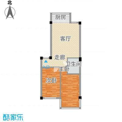 福景园83.30㎡D户型2室1厅1卫