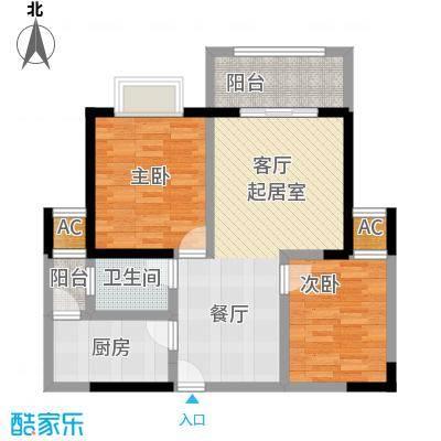 雍景金銮湾85.49㎡(T2)04户型