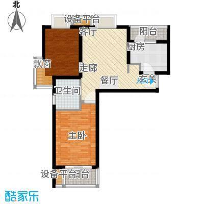 新天地荻泾花园85.12㎡房型: 二房; 面积段: 85.12 -97.46 平方米;户型