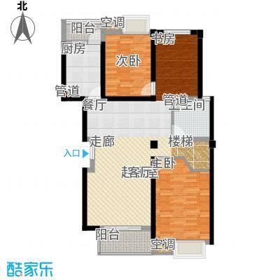 怡景.聚贤庭112.00㎡D顶层+阁楼 五室两厅三卫 112㎡户型5室2厅3卫