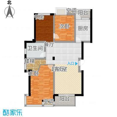 怡景.聚贤庭115.00㎡C顶层+阁楼 五室两厅三卫 115㎡户型5室2厅5卫