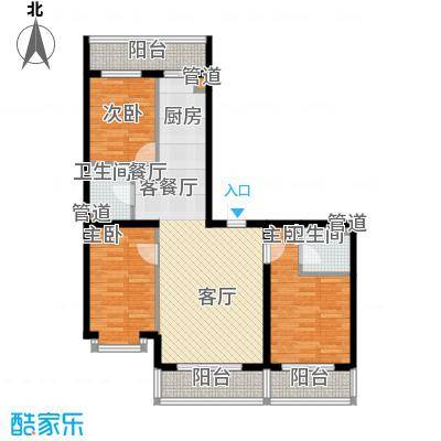 祥瑞府邸91.52㎡三居一厅91.52平方米户型