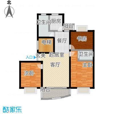 宝业馨康苑二期116.50㎡房型: 三房; 面积段: 116.5 -119.4 平方米;户型