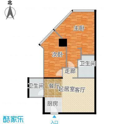 中华・钱塘航空大厦107.00㎡1幢B110-32层(23层避难层除外)户型2室2厅2卫