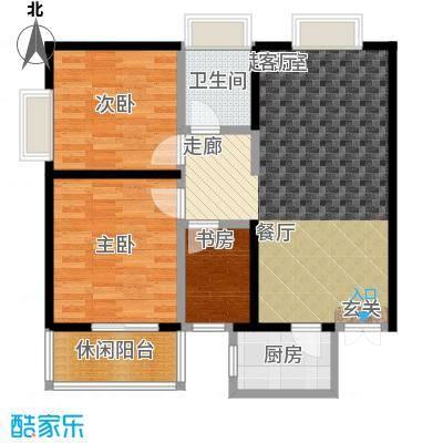 天坛佳苑天坛佳苑 A/01两室两厅一厨一卫户型