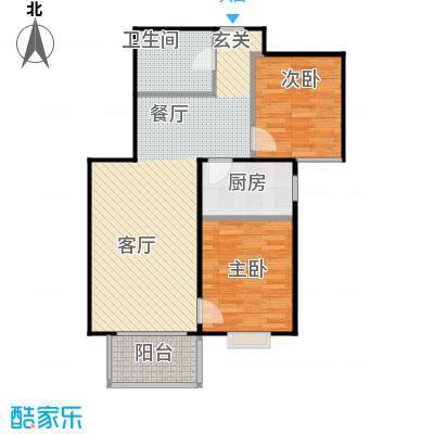 首创漫香郡19号楼B1户型2室2厅1卫