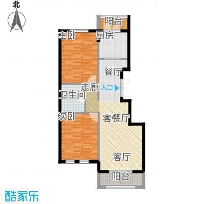 浦江国际94.00㎡浦江国际t2b2-01户型2室2厅1户型2室2厅1卫