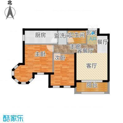 浦江国际79.00㎡浦江国际t2a-01户型-2室1厅1户型2室1厅1卫