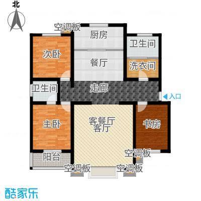 徐水幸福家园139.00㎡三室两厅两卫户型3室2厅2卫