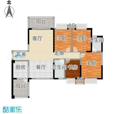 荣顾购物公园132.90㎡公寓户型图户型4室2厅2卫LL