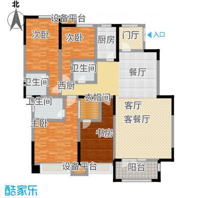 天安珑园187.00㎡一期洋房187平米B户型4室3厅3卫