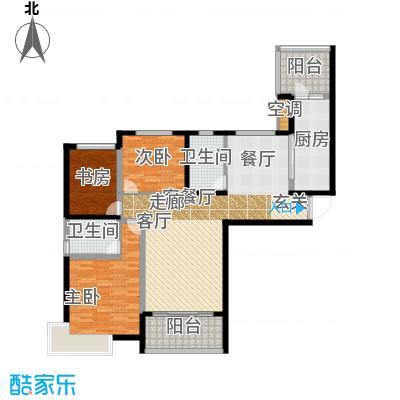 恒大山水城127.75㎡27号楼 3室2厅2卫户型3室2厅2卫