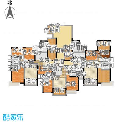 恒大山水城79号楼首层户型