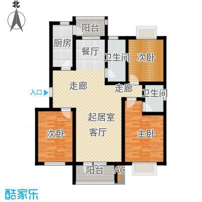 国际城月伴湾136.60㎡I户型3室2厅2卫