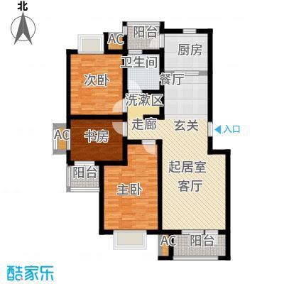 国际城月伴湾112.90㎡E户型3室2厅1卫