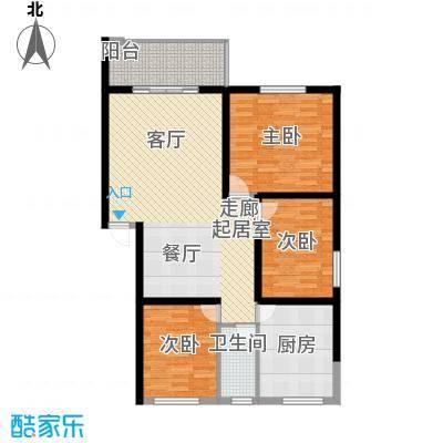 安康丰景佳园二期112.09㎡三室两厅一卫户型