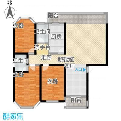 安康丰景佳园二期148.60㎡三室两厅两卫户型