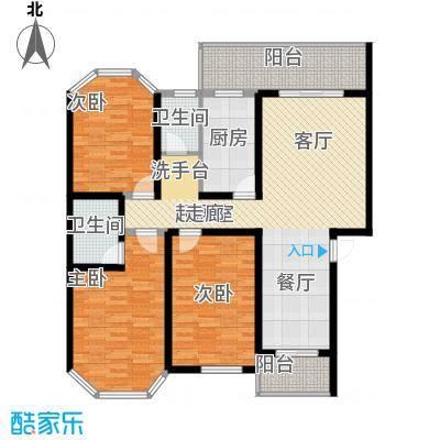 安康丰景佳园二期135.20㎡三室两厅两卫户型