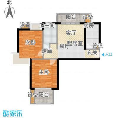 天山怡景苑85-89平方米户型2室1厅1卫