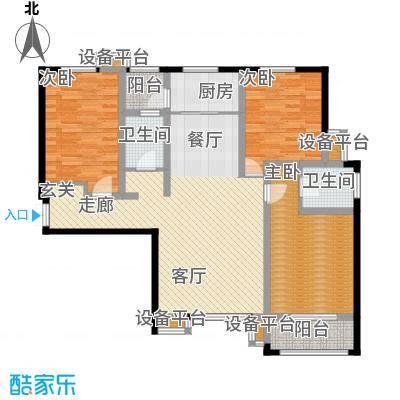 揽盛金广厦137平米三室两厅两卫户型