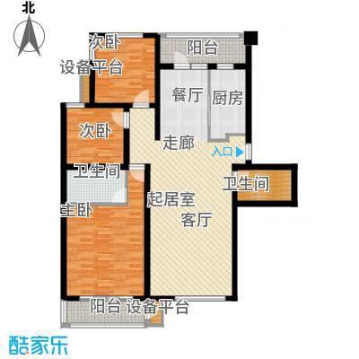金竹首府三室两厅两卫户型