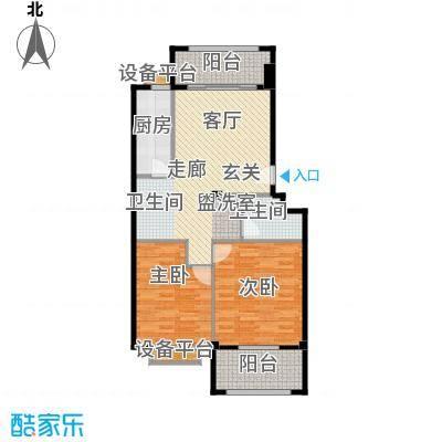 福华凯旋门两室一厅一卫户型