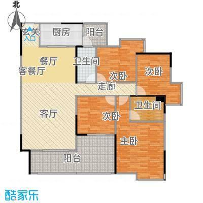 中海金沙苑139.77㎡10栋-201户型4室1厅2卫1厨