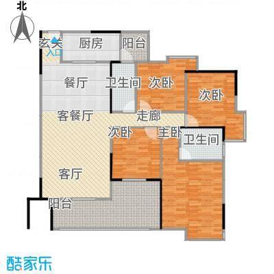 中海金沙苑140.39㎡户型4室1厅2卫1厨