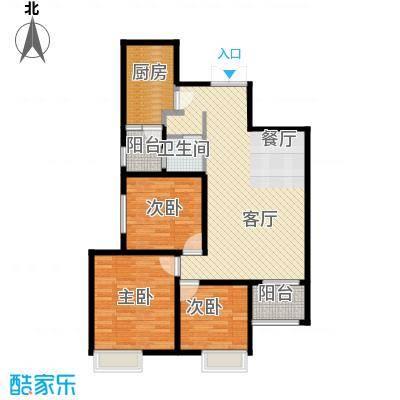 金业缇香山100.47㎡B户型3室2厅2卫