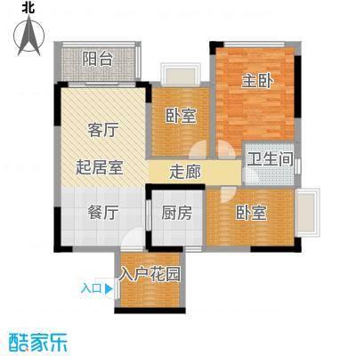 锦绣国际花城97.63㎡3幢5-15层02单元户型1室1卫1厨