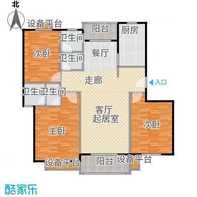 金羚嘉和馨园二期149.75㎡8#楼GC户型3室2厅2卫1厨户型3室2厅2卫