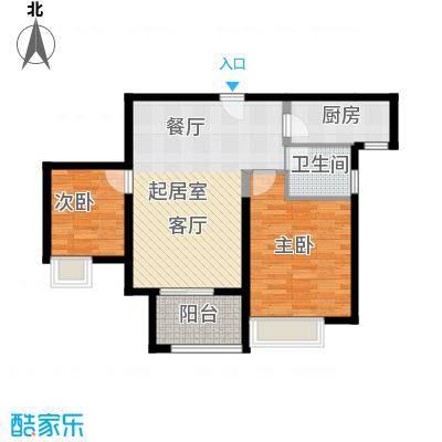 苏宁睿城J2型户型2室1卫1厨
