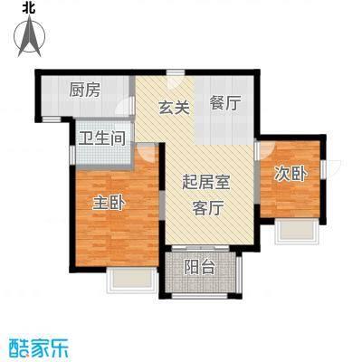苏宁睿城C户型2室1卫1厨