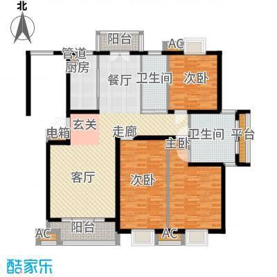 宏泰花苑四期143.56㎡三房二厅二卫-143.56平方米-24套户型