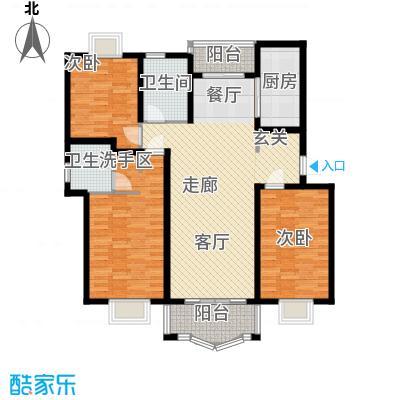 久华佳苑120.55㎡房型: 三房; 面积段: 120.55 -138.32 平方米;户型