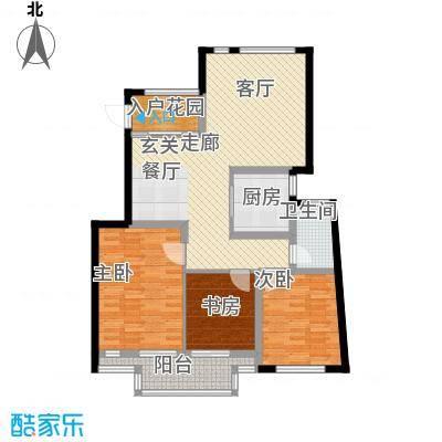 蝶景湾御江山户型3室1厅1卫1厨