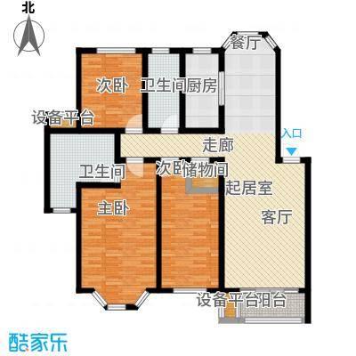 丰润港岛花园户型3室2卫1厨