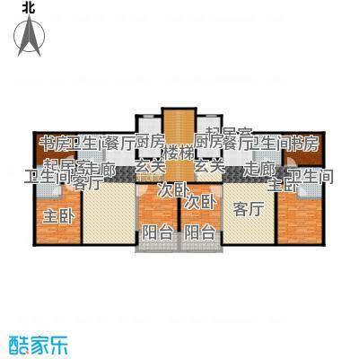 博恩御山水248.02㎡洋房B北入口五层户型6室4卫2厨