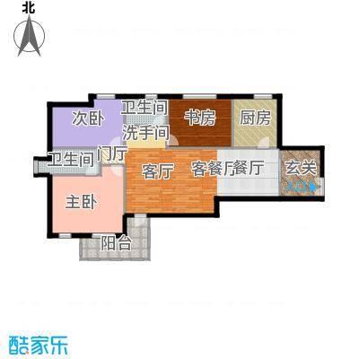 中通锦龙花园113.00㎡1-2栋01-02型户型3室1厅2卫1厨
