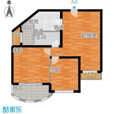碧玉家园一期二室一厅一卫-89.97-95.44平米户型