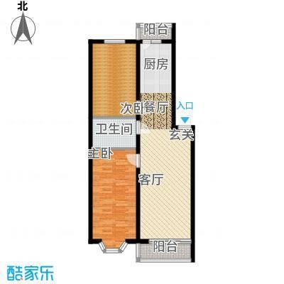 金豪斯经典二期64.79平方米户型