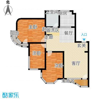 西湖城127.62㎡4#5#楼C户型3室2厅1卫