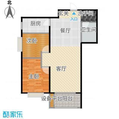 首创漫香郡22#楼A4户型(已售完)2室2厅1卫1厨户型